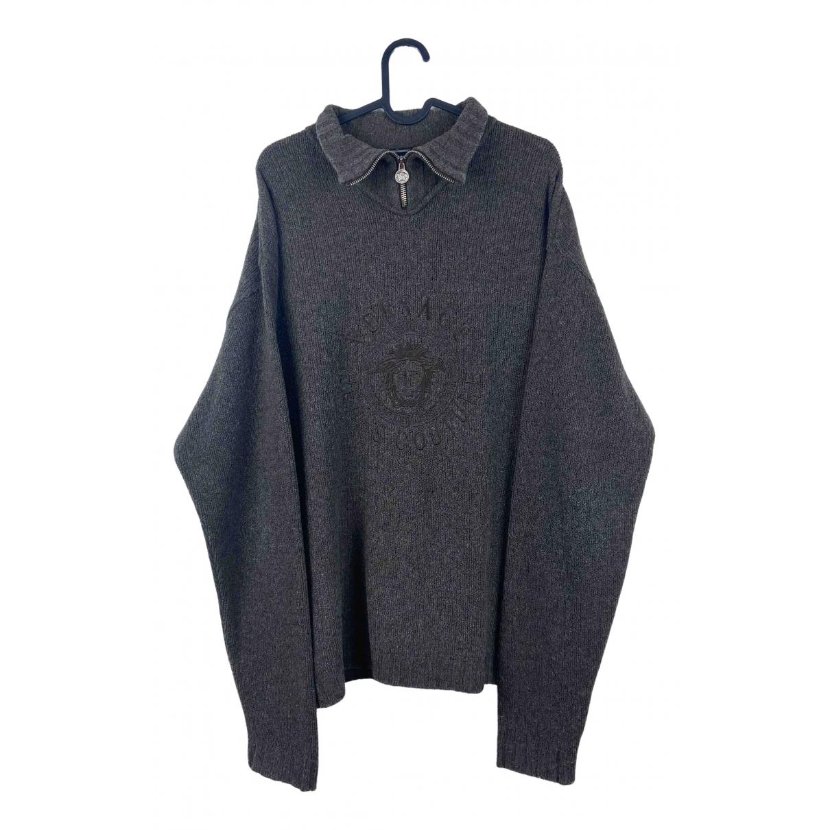 Versace Jean - Pulls.Gilets.Sweats   pour homme en laine - marron