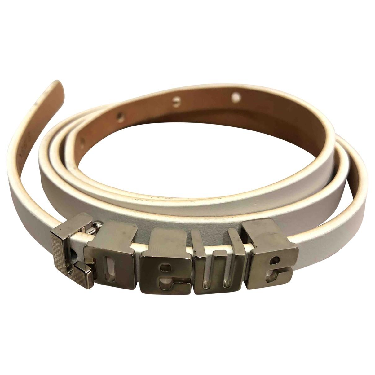 Loewe \N White Leather belt for Women 80 cm