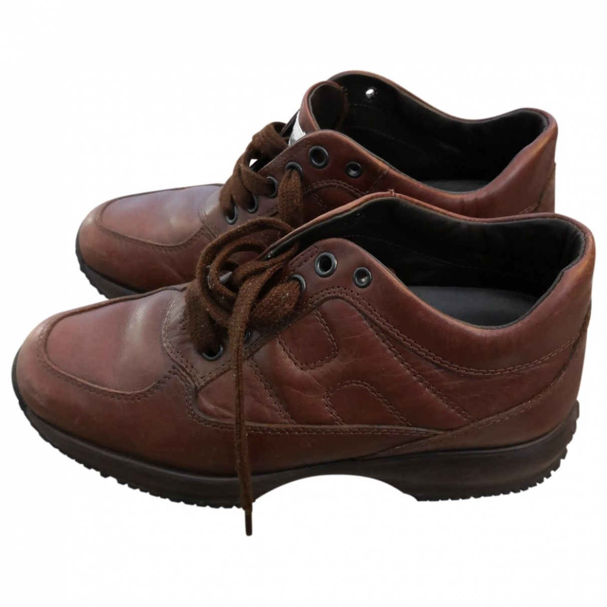 Hogan \N Brown Leather Trainers for Women 36 EU