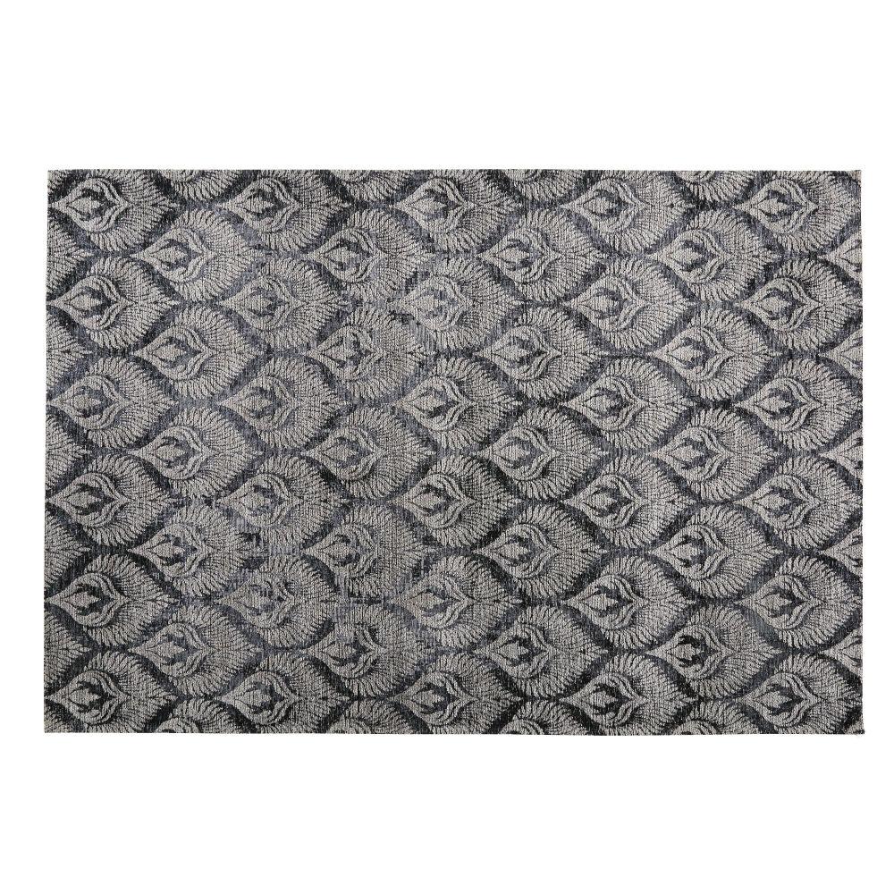 Jacquard-Webteppich mit Grafikmustern, grau 140x200