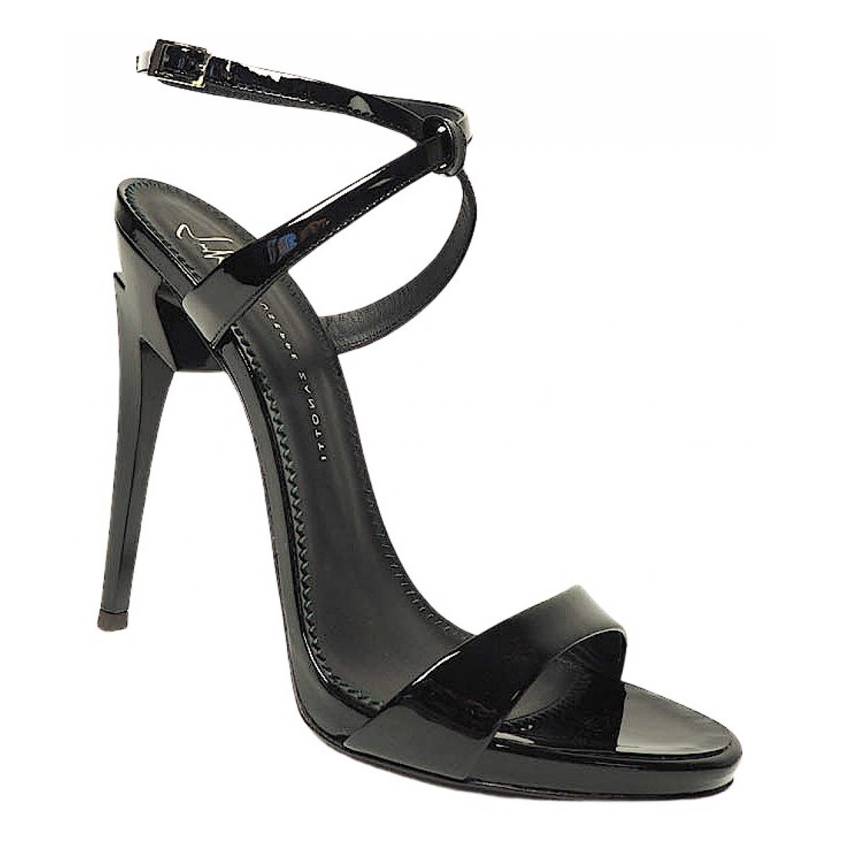 Giuseppe Zanotti N Black Leather Heels for Women 37 EU