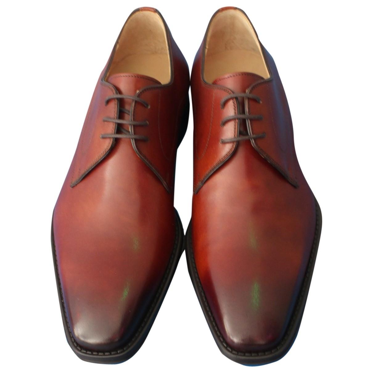 Magnanni - Derbies   pour homme en cuir - marron