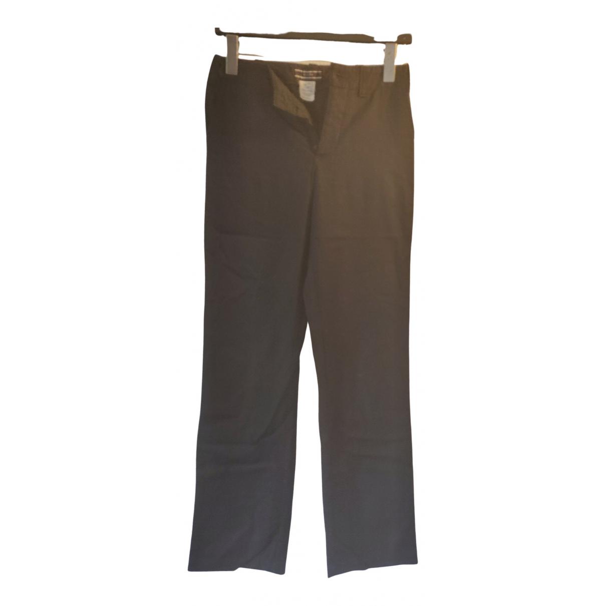 Joseph \N Black Wool Trousers for Women 34 FR