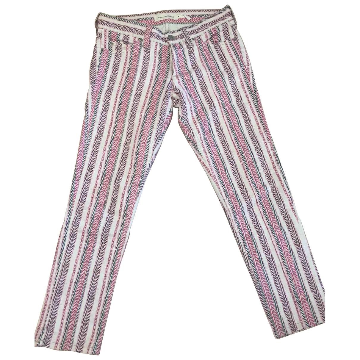 Isabel Marant Etoile \N Multicolour Cotton Trousers for Women 38 FR