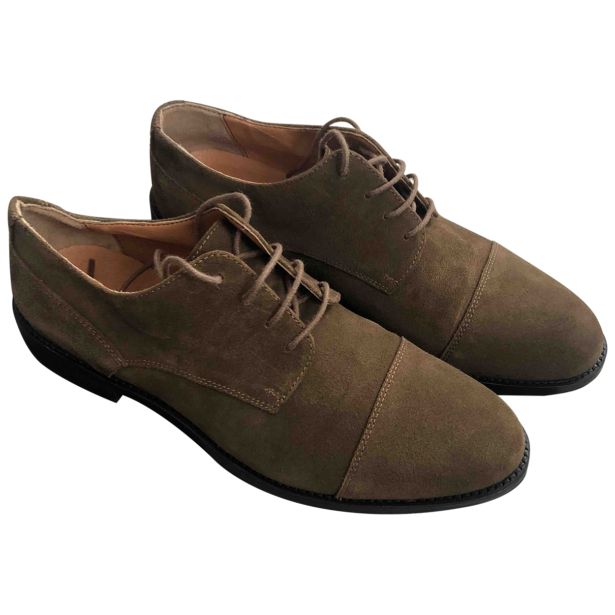 Non Signé / Unsigned \N Brown Suede Lace ups for Men 44 EU