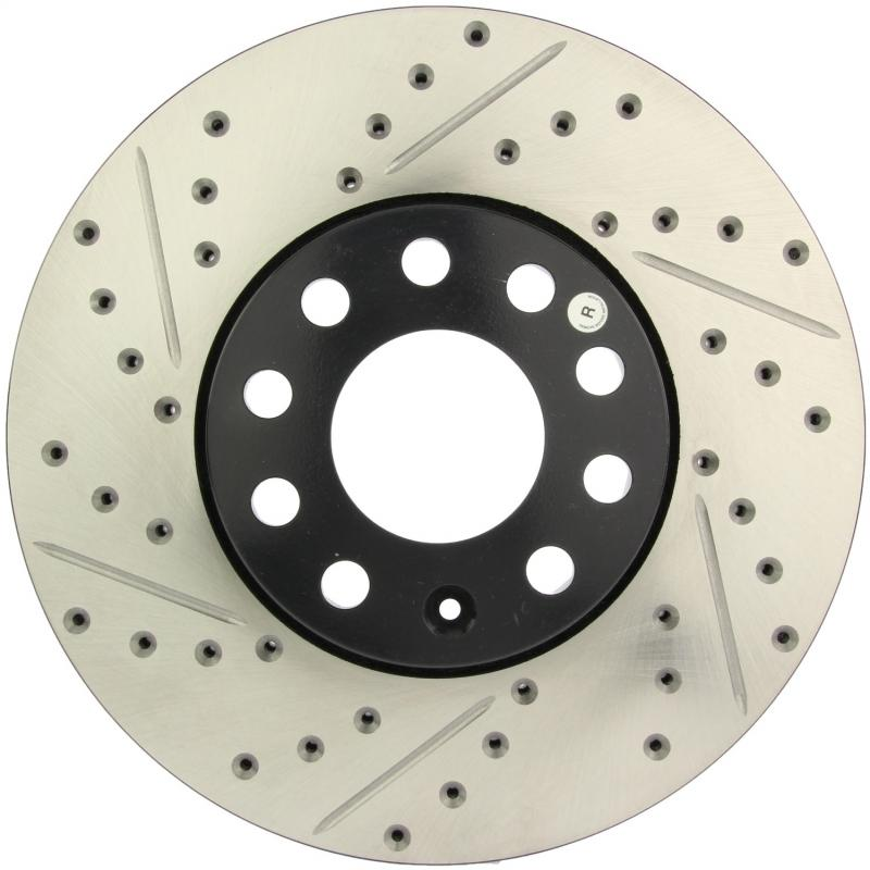 StopTech 127.33039R Sport Drilled/Slotted Brake Rotor; Front Right Front Right