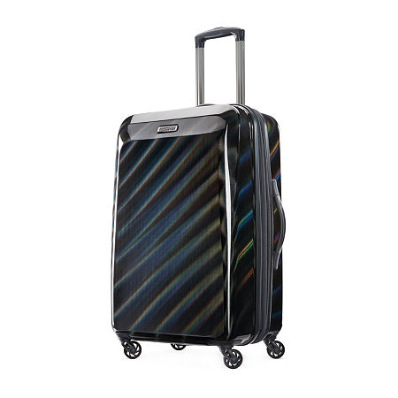 American Tourister Moonlight 25 Inch Hardside Lightweight Luggage, One Size , Black