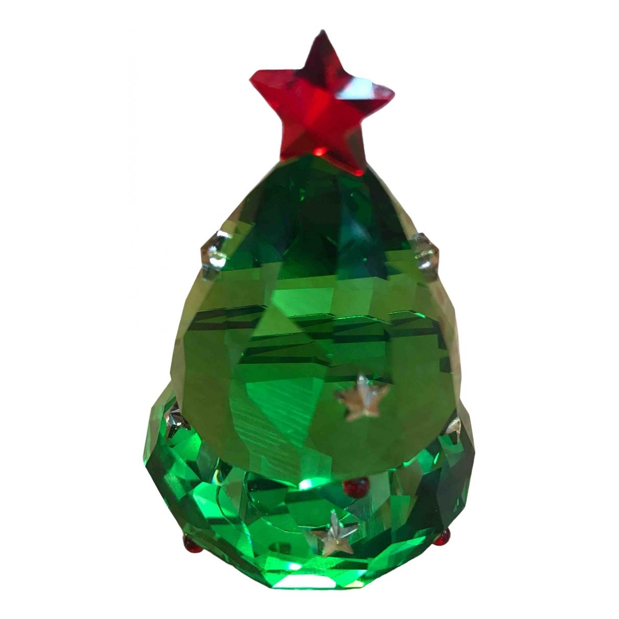 Swarovski \N Accessoires und Dekoration in  Gruen Kristall