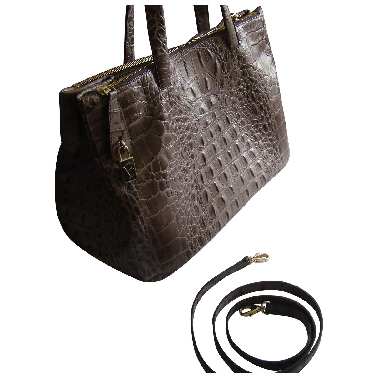 Furla \N Khaki Crocodile handbag for Women \N
