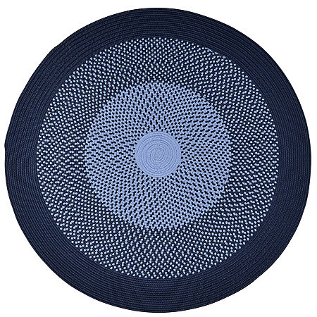 JCPenney Home Expressions Reversible Braided Round Rug, One Size , Blue