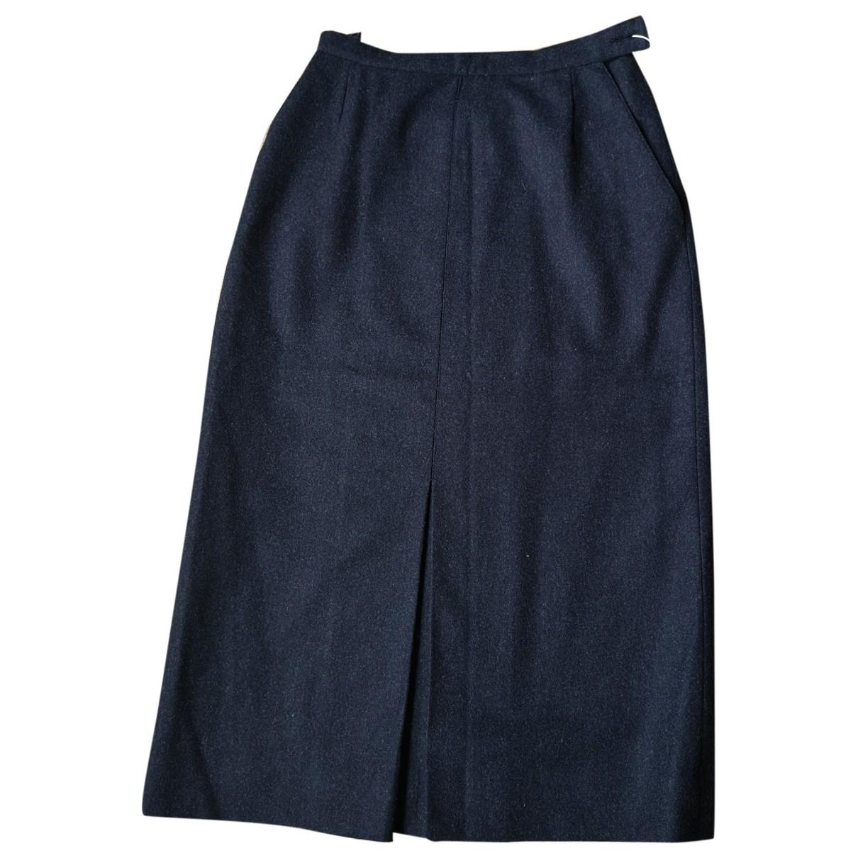Chanel \N Grey Wool skirt for Women 36 FR