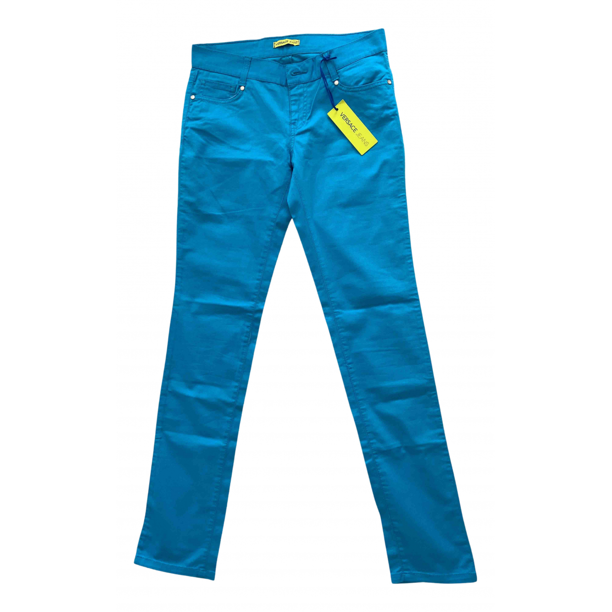 Versace Jeans N Blue Cotton Jeans for Women 37 FR
