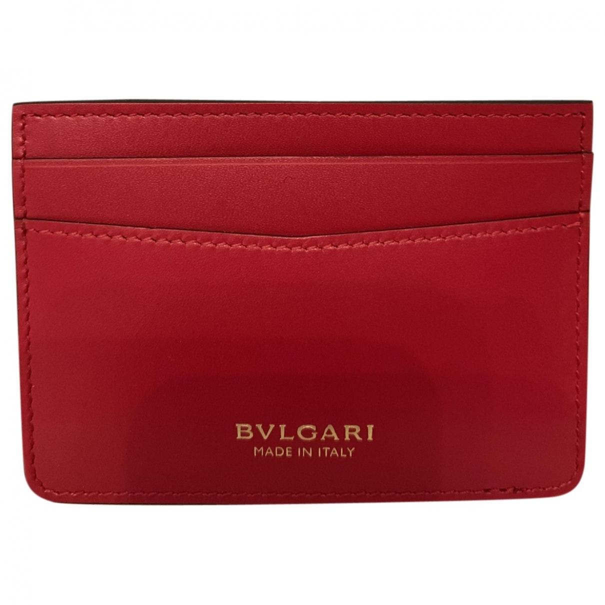 Bvlgari - Petite maroquinerie   pour femme en cuir - rouge