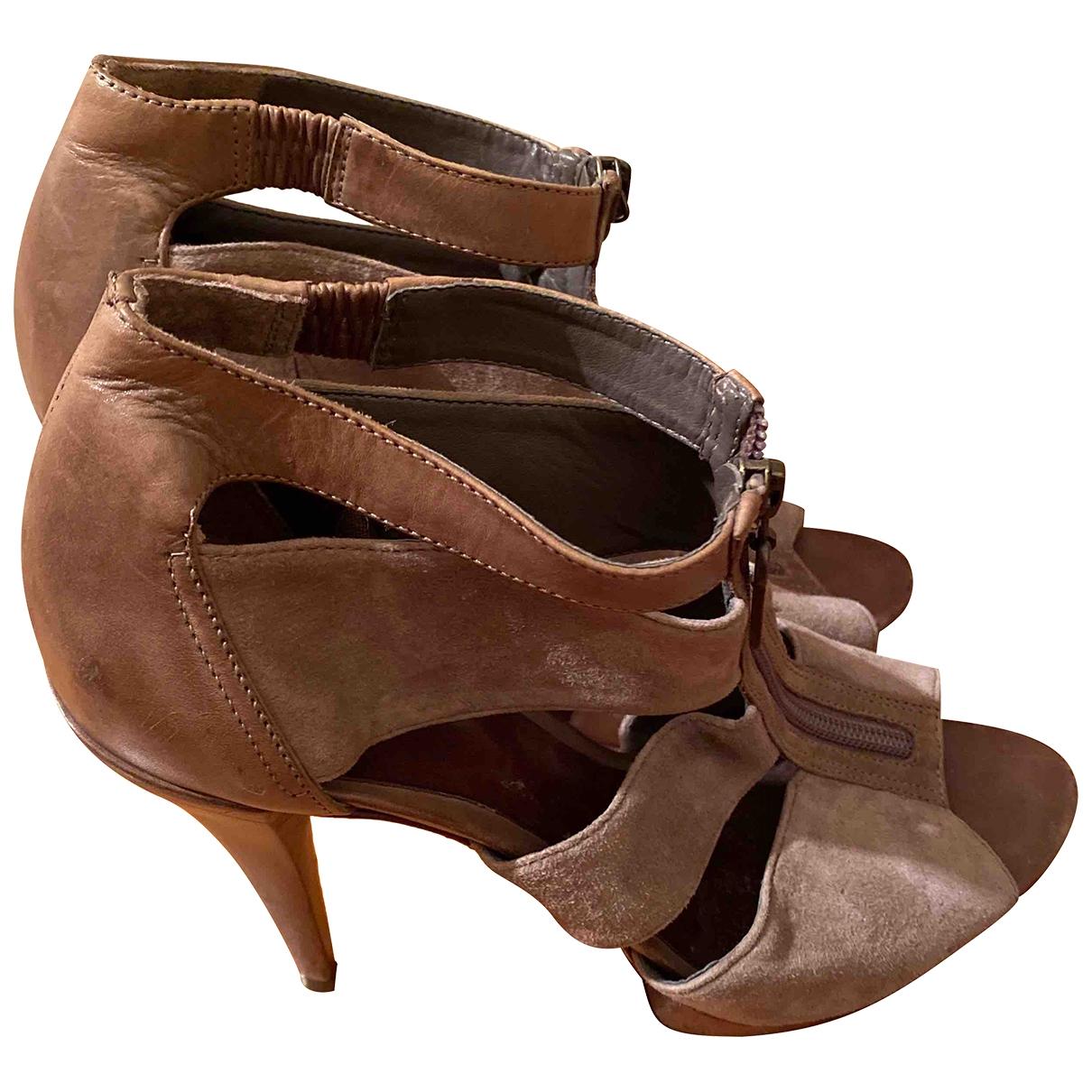 Schutz - Sandales   pour femme en suede - gris