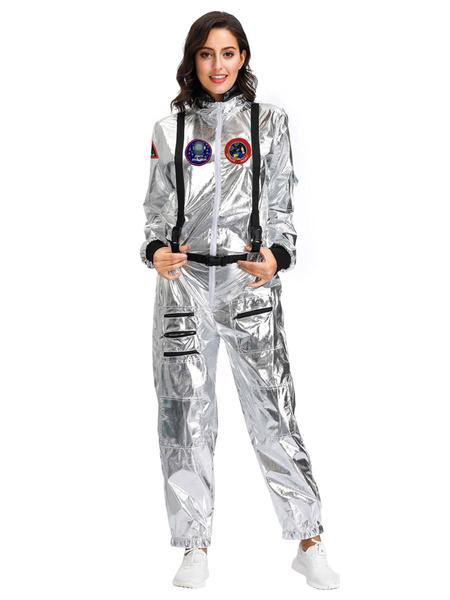 Milanoo Women Astronaut Costume Jumpsuit Holidays Halloween Costumes
