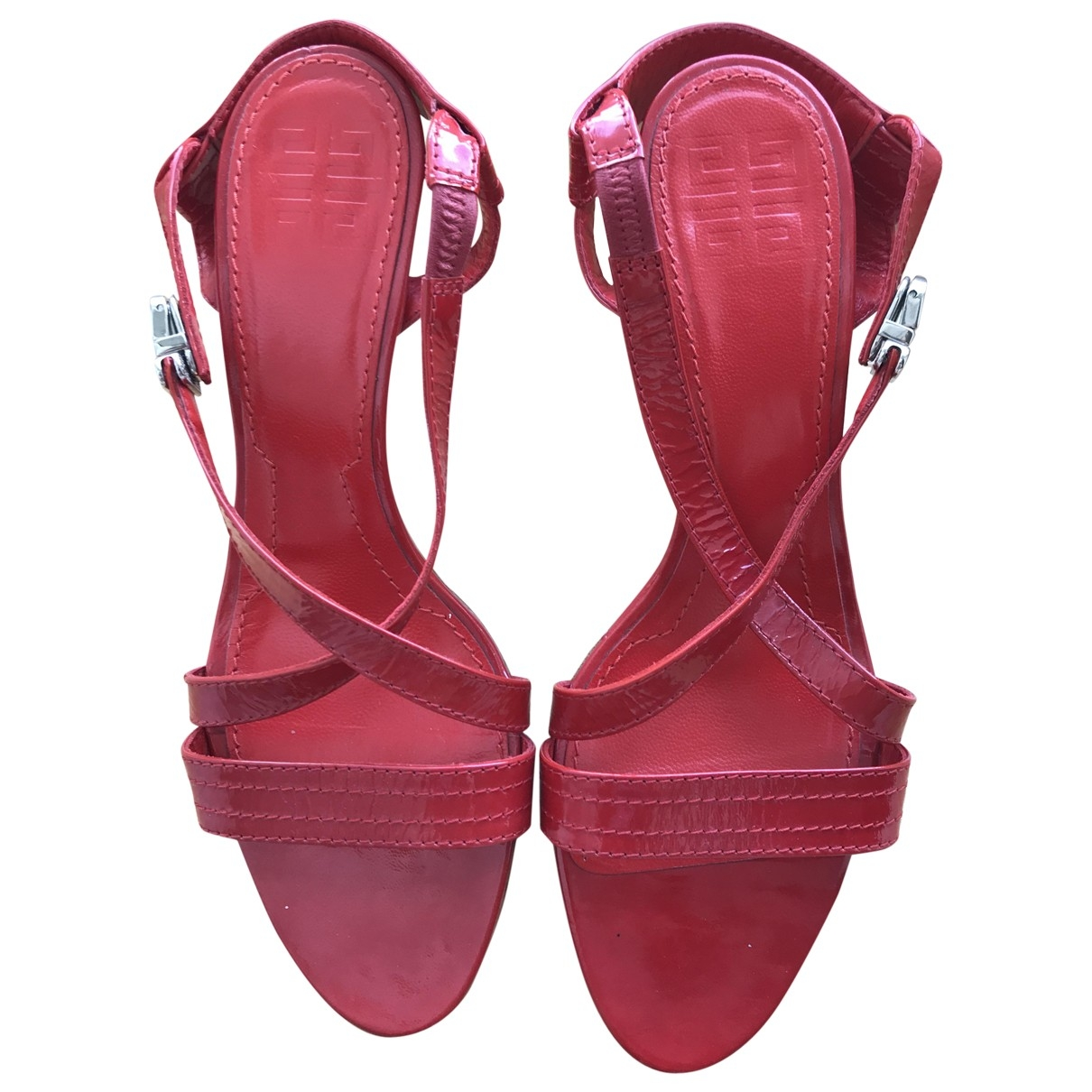 Givenchy \N Red Patent leather Sandals for Women 39 EU