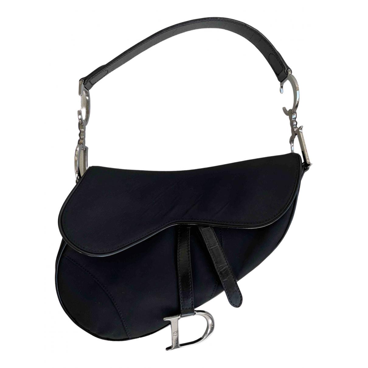 Dior - Sac a main Saddle pour femme en soie - noir
