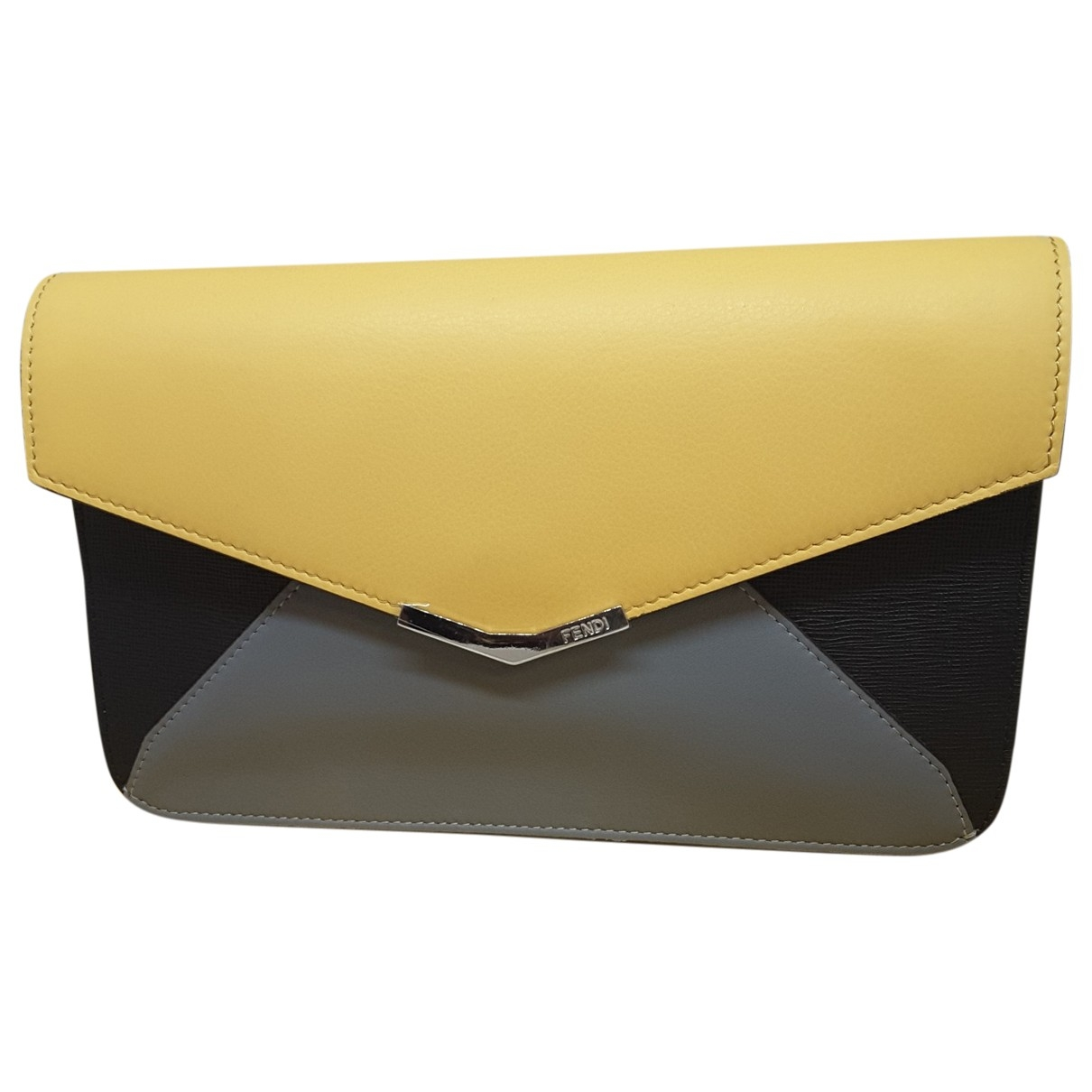 Fendi \N Clutch in  Gelb Leder