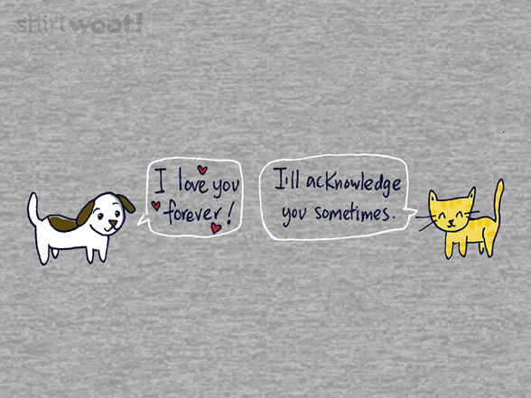 Dog Love And Cat Love T Shirt