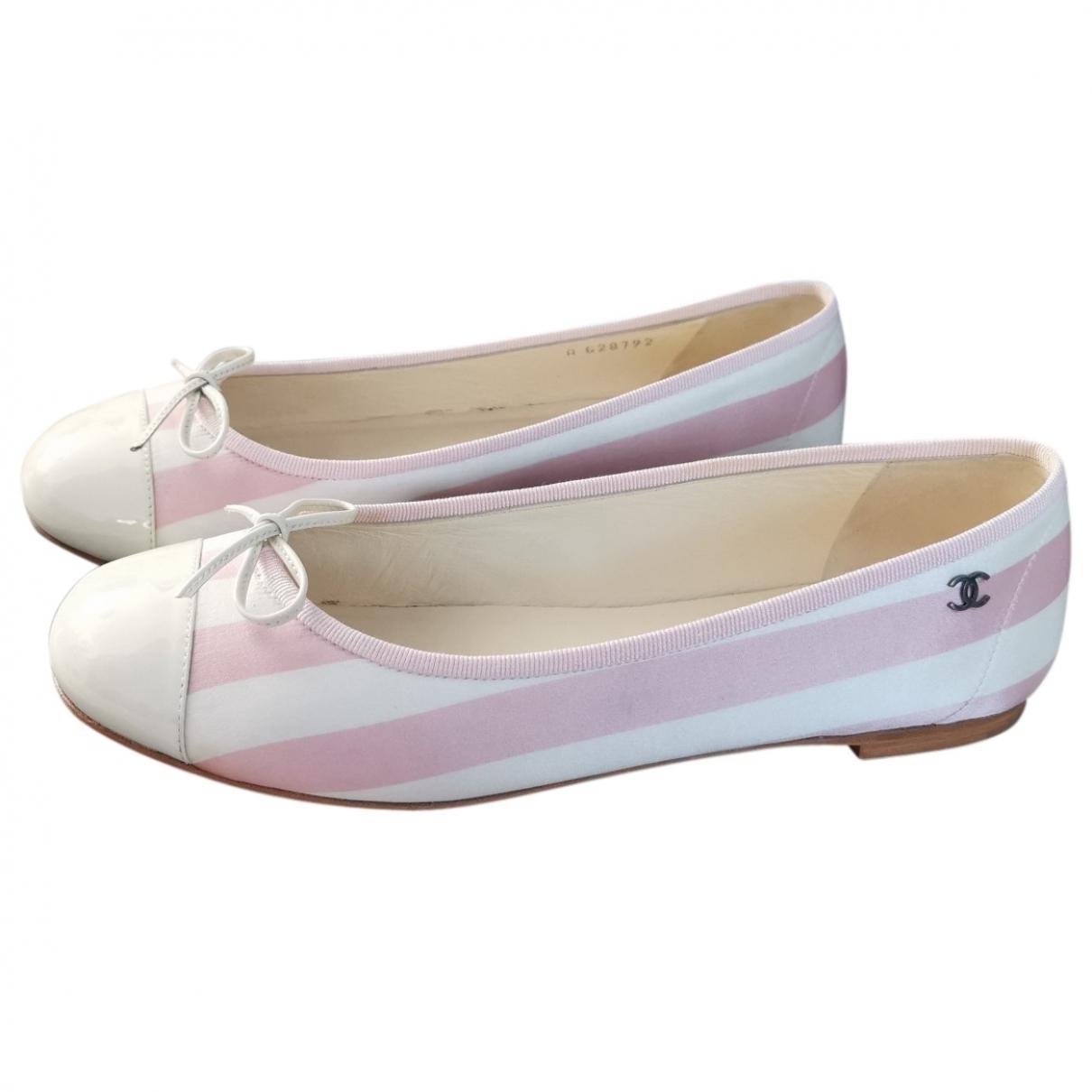 Chanel - Ballerines   pour femme en toile - rose