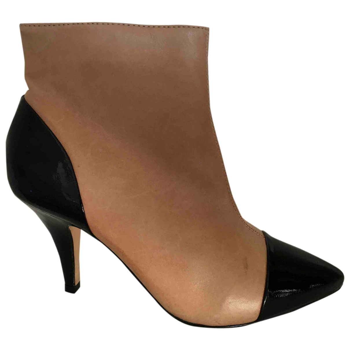 Dune N Beige Leather Boots for Women 39 EU