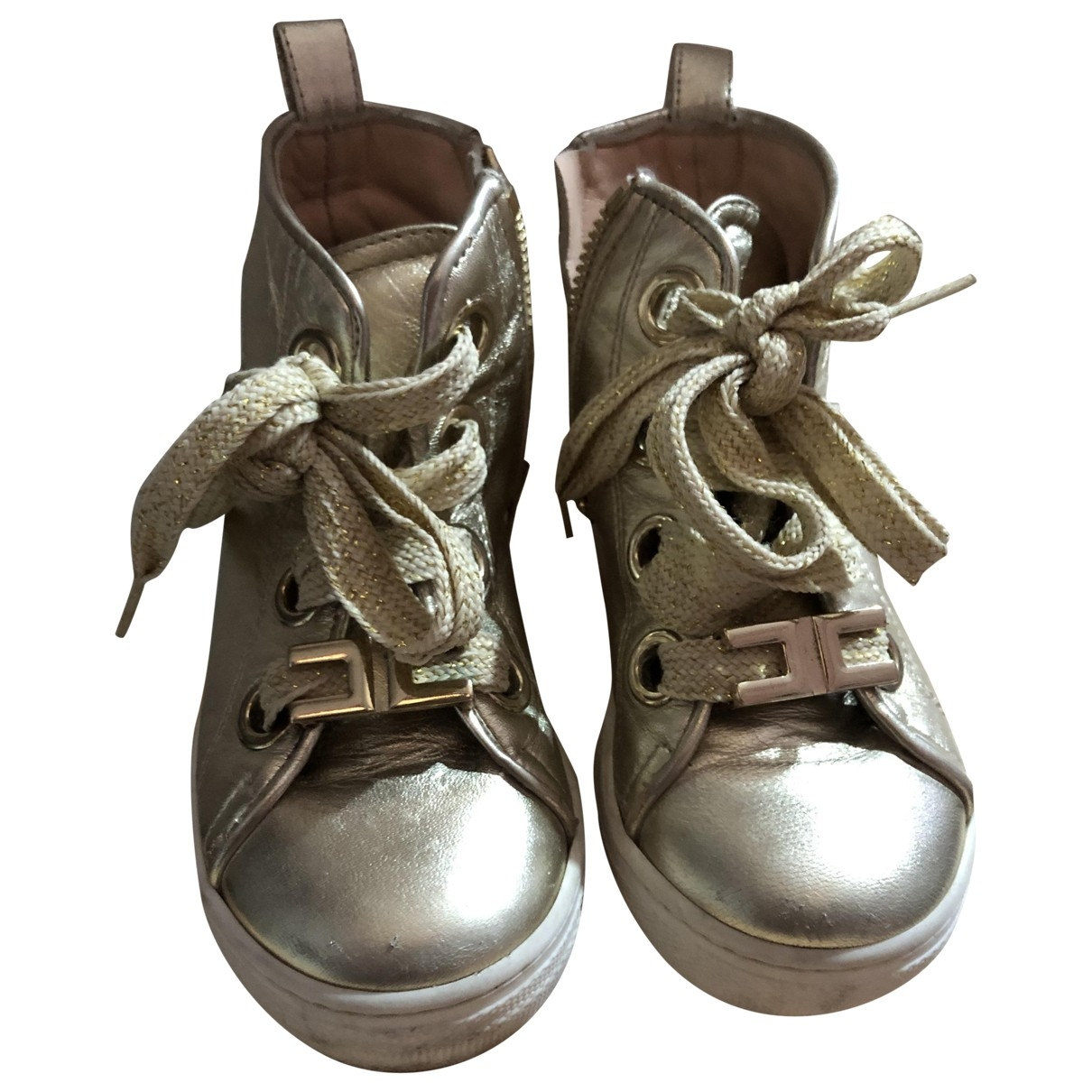 Elisabetta Franchi \N Gold Boots for Kids 25 EU