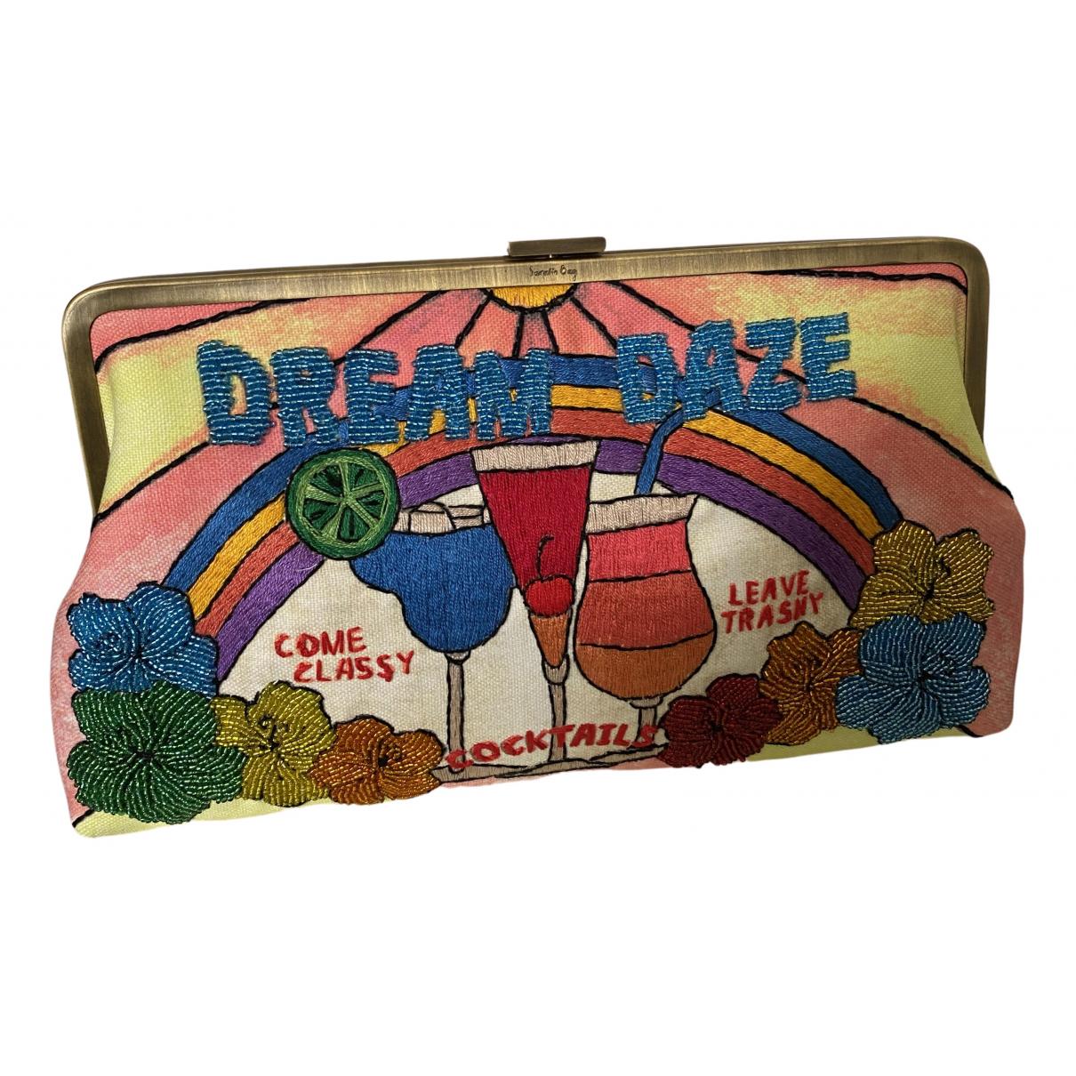 Sarahs Bag - Pochette   pour femme en lin - multicolore