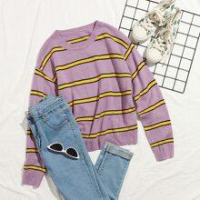 Striped Colorblock Sweater