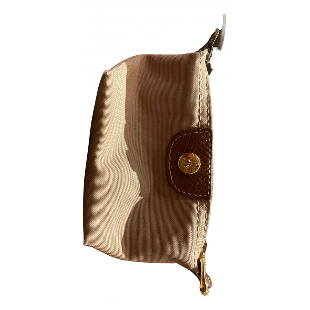 Longchamp \N Beige Cloth Purses, wallet & cases for Women \N