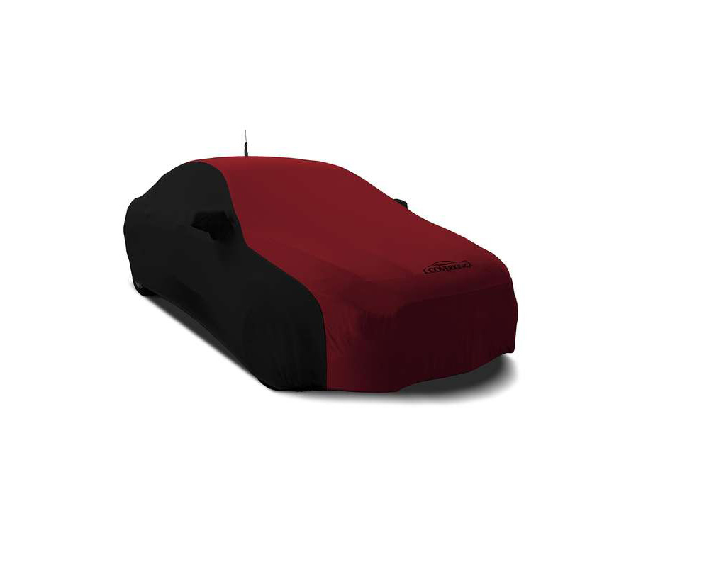 Coverking CVC4SS279MY7008 CVC4SS279 Satin Stretch 2-Tone Black Sides Ruby Red Center Custom Car Cover Mercedes-Benz Maybach S550 | S560 | S600 16-18