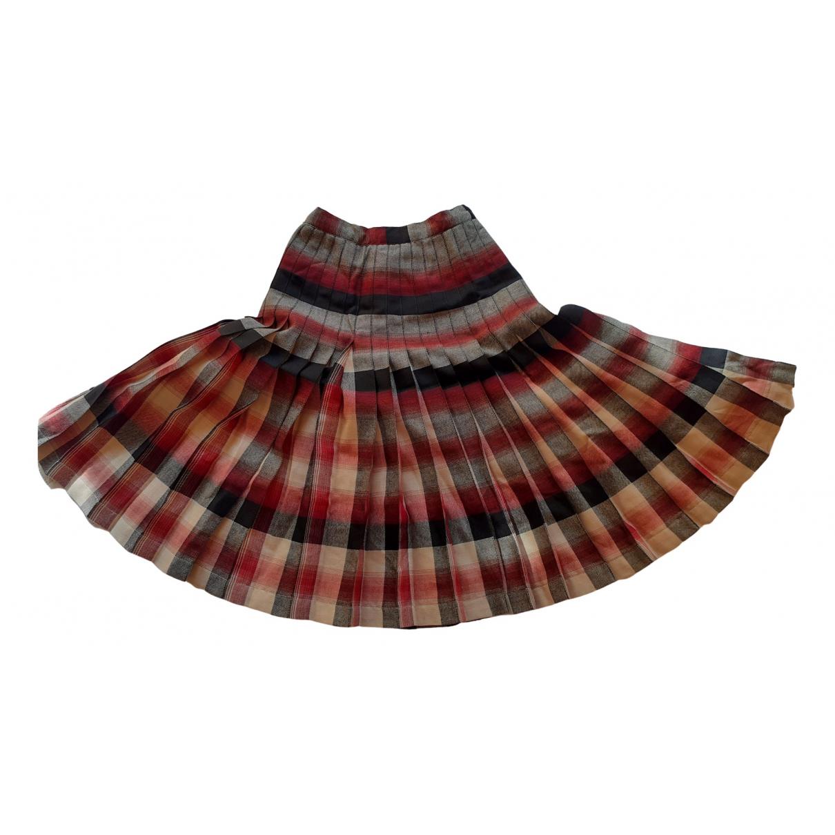 - Jupe   pour femme en laine - multicolore