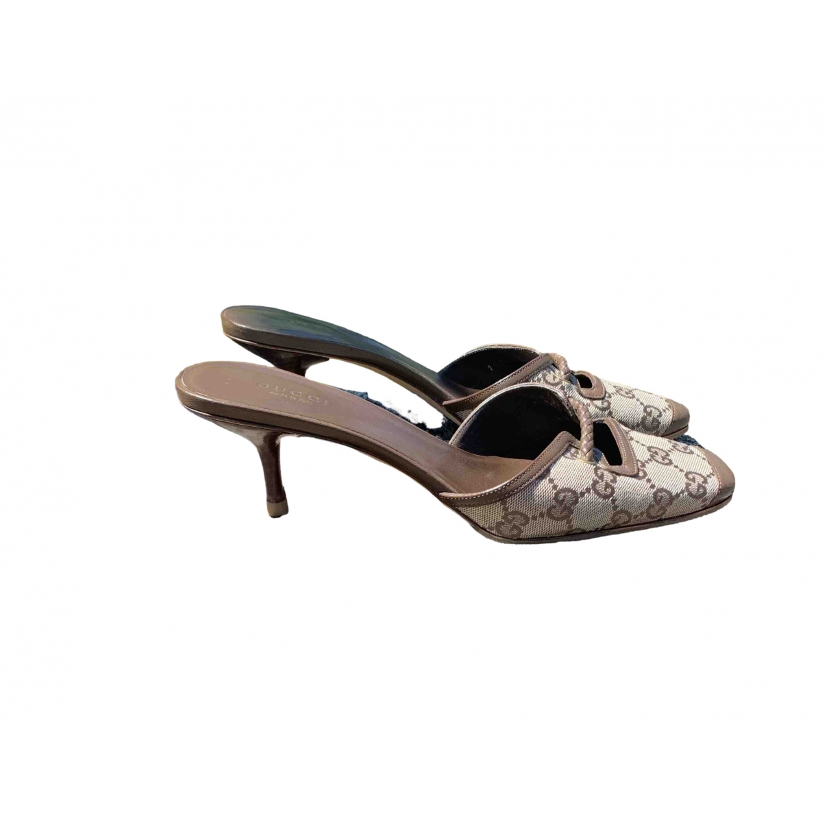Gucci \N Camel Leather Sandals for Women 38.5 IT