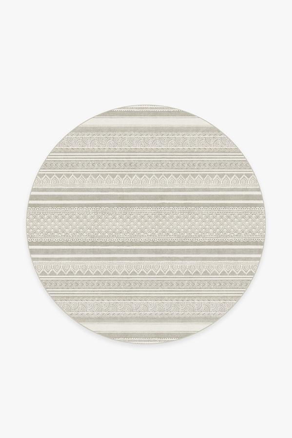 Washable Rug Cover & Pad | Nira Grey Rug | Stain-Resistant | Ruggable | 6 Round