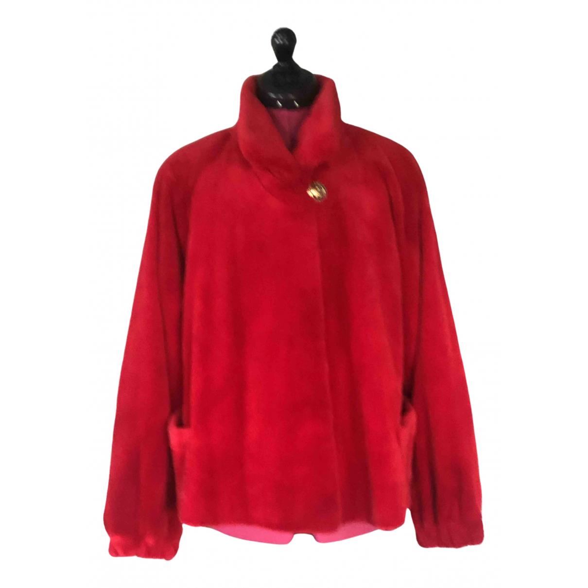Givenchy - Manteau   pour femme en lapin - rouge