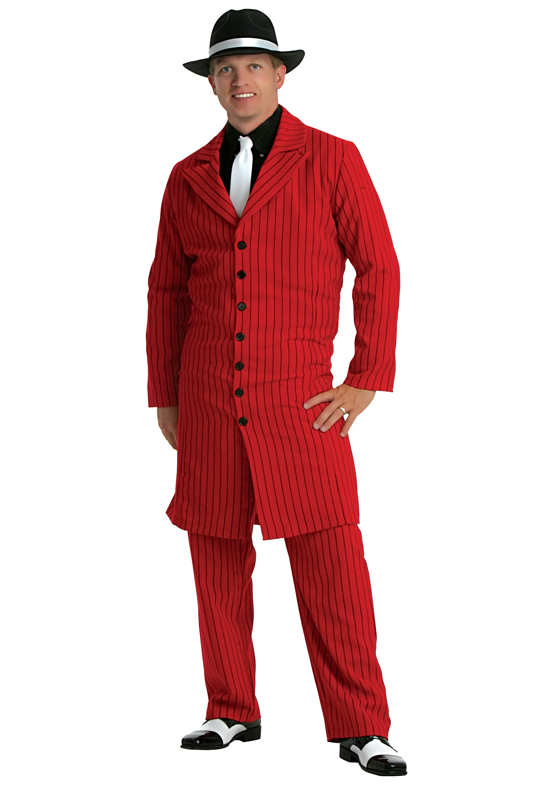 Red Gangster Men's Zoot Suit  Costume