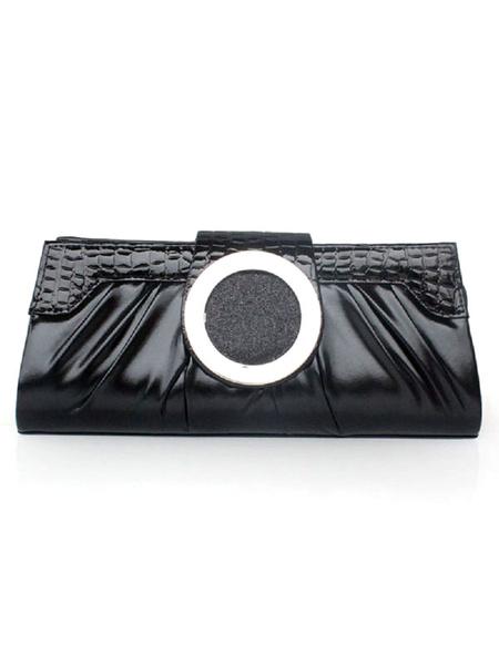 Milanoo Wedding Handbags Gold Metallic Evening Party Clutch Bags