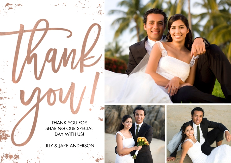 Thank You Cards Flat Matte Photo Paper Cards with Envelopes, 5x7, Card & Stationery -Thank You Sincere by Tumbalina
