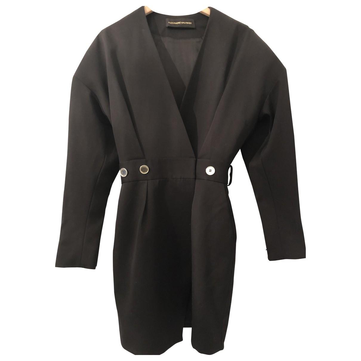 Alexandre Vauthier \N Kleid in  Schwarz Wolle