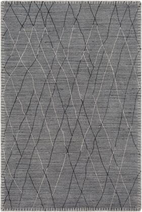 Arlequin ARQ-2300 6' x 9' Rectangle Global Rug in Medium Grey  Taupe