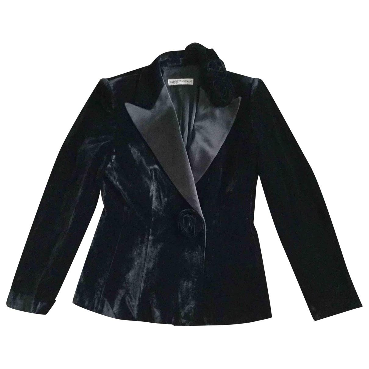 Emporio Armani \N Black jacket for Women 40 IT