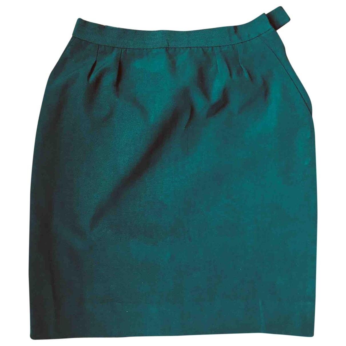 Yves Saint Laurent - Jupe   pour femme en coton - vert