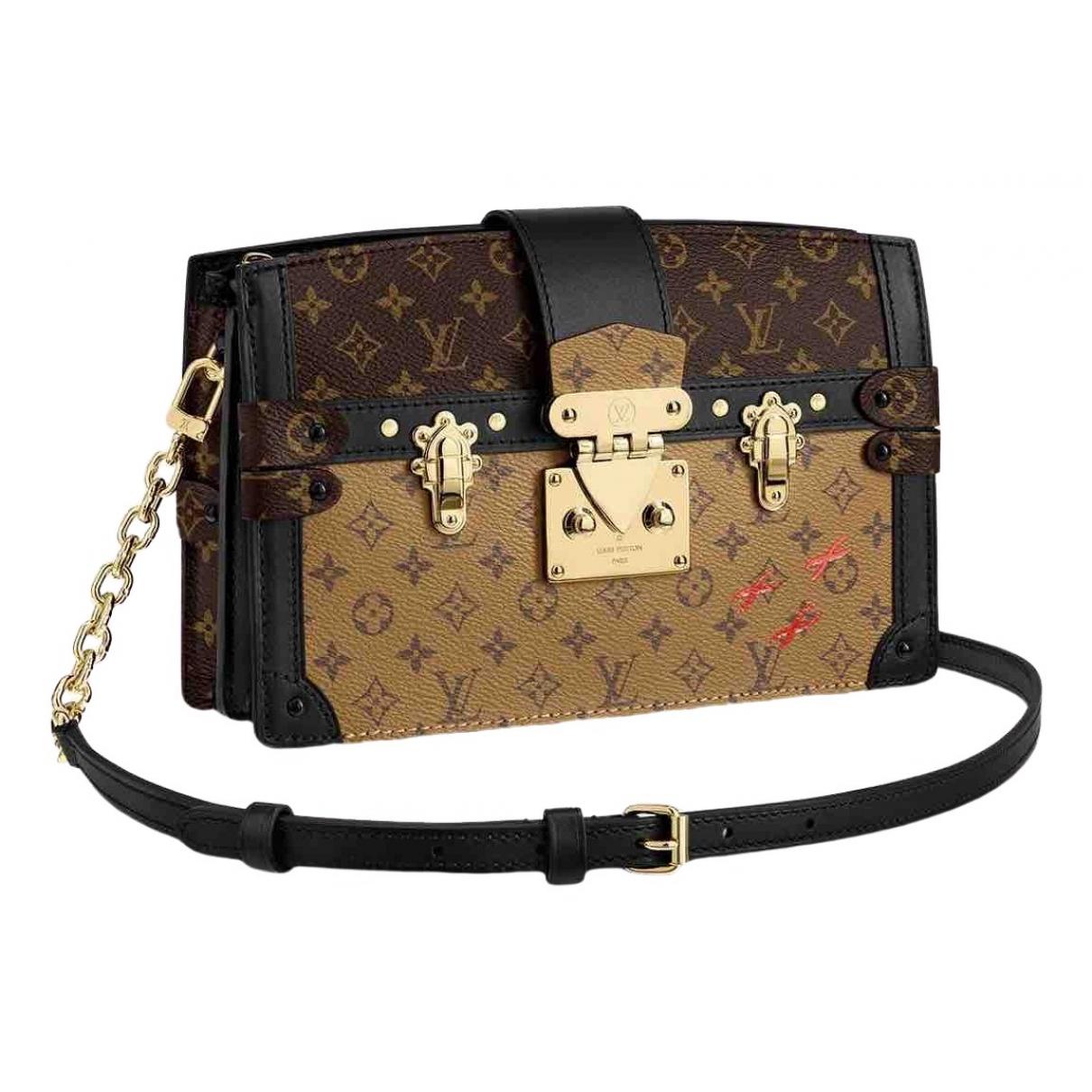 Louis Vuitton - Sac a main Pochette Trunk pour femme en toile - marron