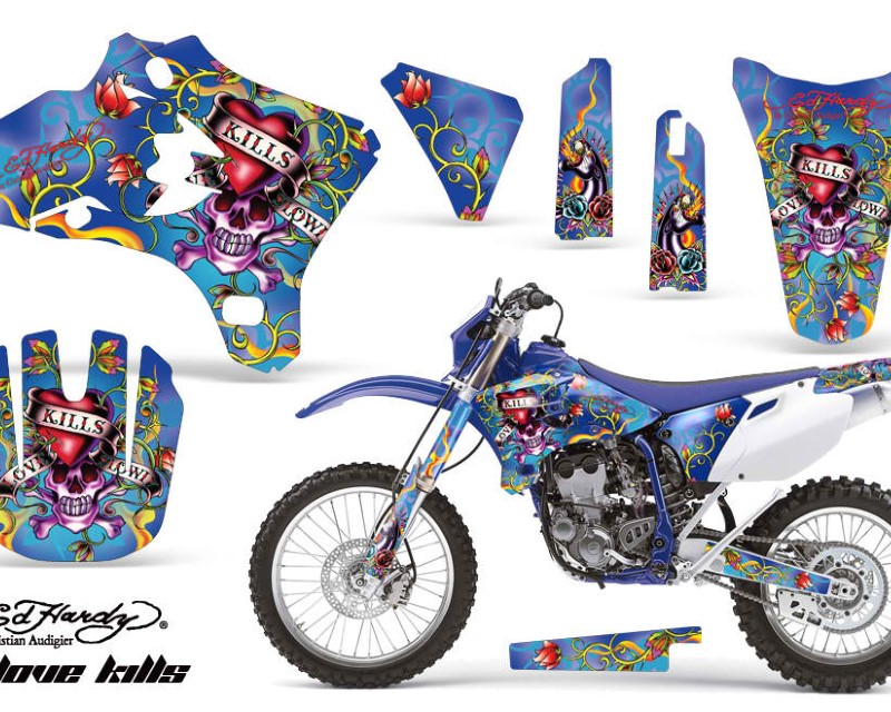 AMR Racing Dirt Bike Graphics Kit Decal Wrap For Yamaha WR250 WR450F 2005-2006áEDHLK BLUE