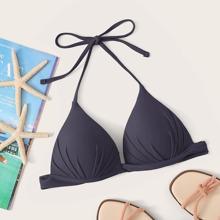 Dreieckiger Bikini Top mit Neckholder