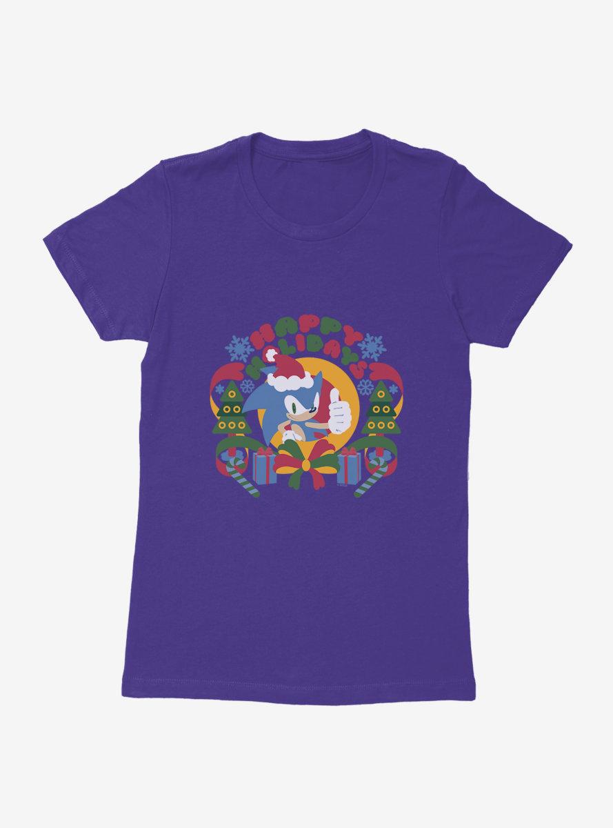 Sonic The Hedgehog Winter Sonic Claus Womens T-Shirt