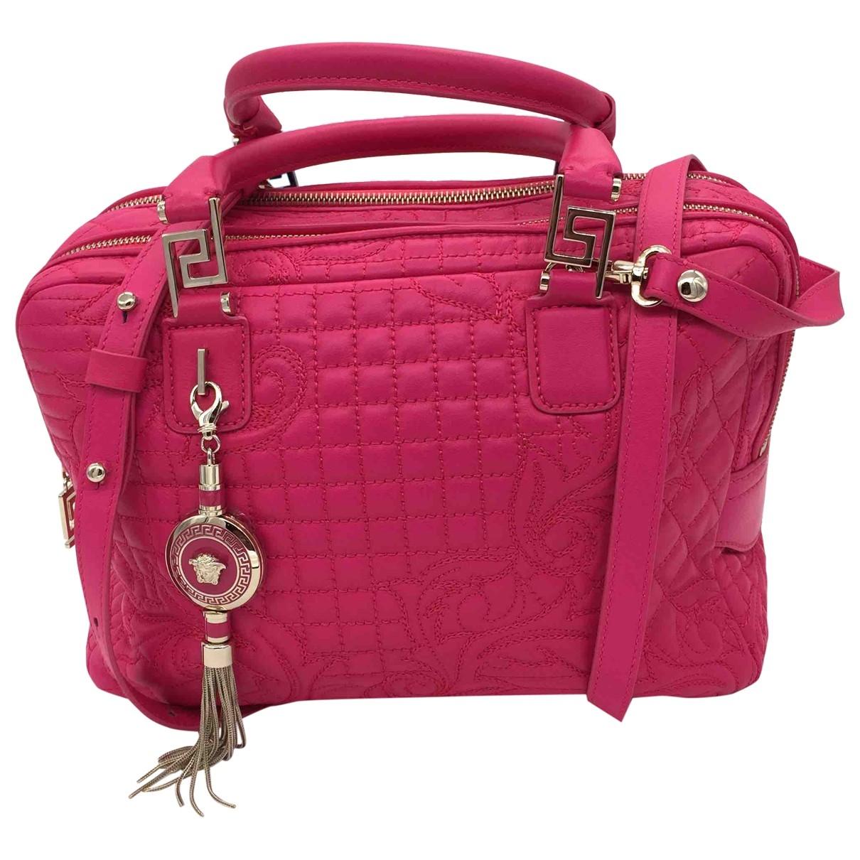 Versace \N Handtasche in  Rosa Leder