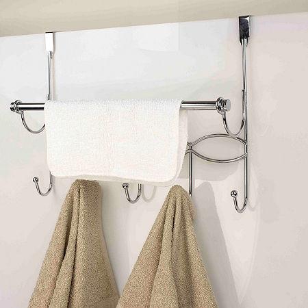 Home Basics Overdoor Storage, One Size , Silver