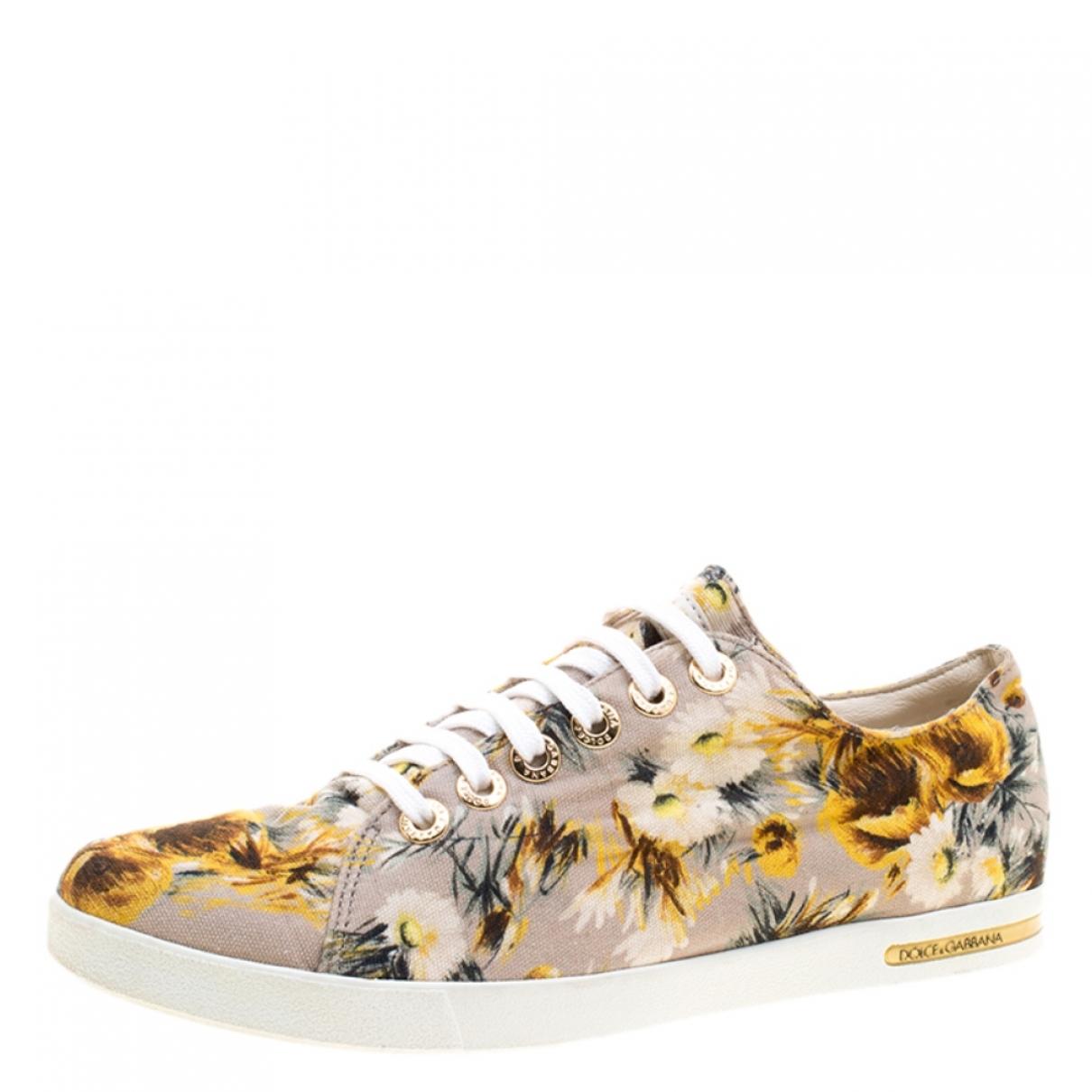 Dolce & Gabbana \N Beige Cloth Trainers for Women 37.5 EU