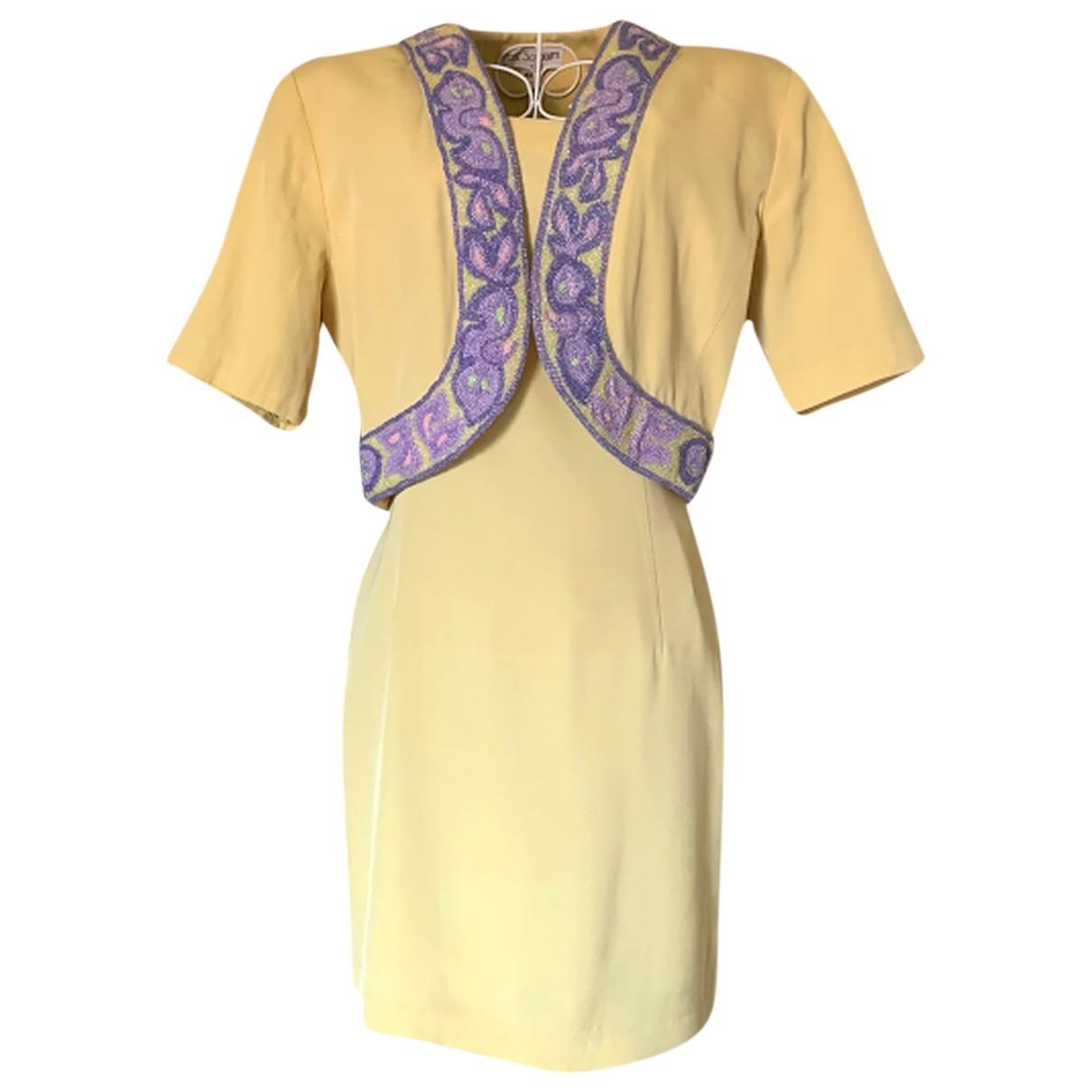 Non Signe / Unsigned Epaulettes Kleid in  Bunt Viskose