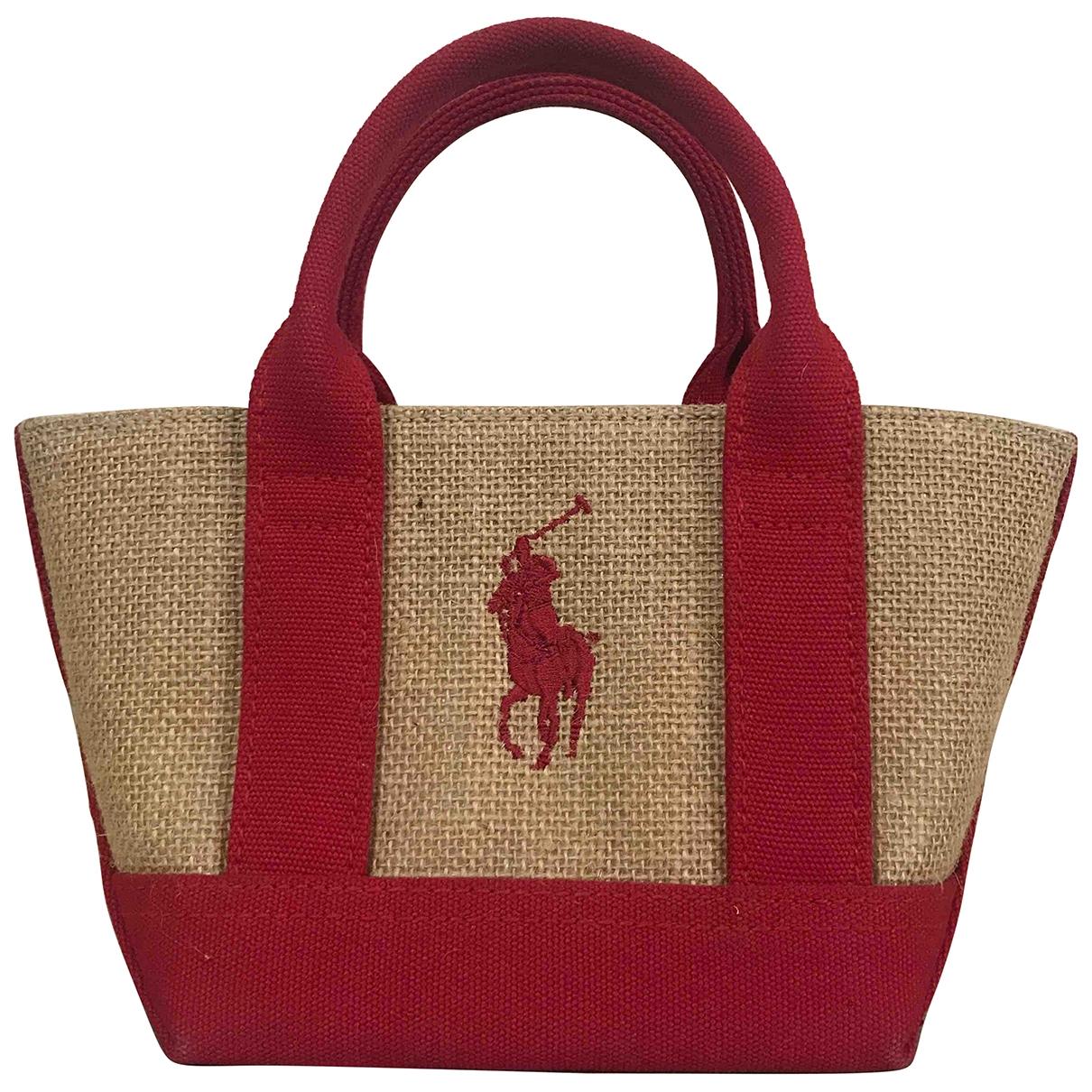Ralph Lauren \N Handtasche in  Rot Stroh